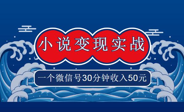 麒麟社vip《小说变现实战班》,一个微信号30分钟收入50元